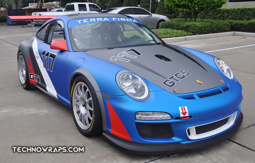 Custom designed race car livery and wrap | Porsche GT3 Cup r