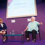Val McDermid Chaired by Nicola Sturgeon | Diamond Dagger-winning author Val McDermid speaks to her Chair Nicola Sturgeon © Alan McCredie