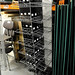 Grey metal racking unit