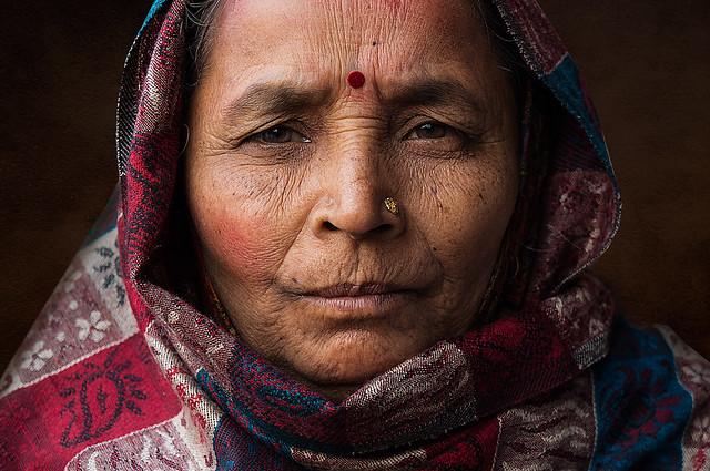 Woman near Red Fort, Delhi