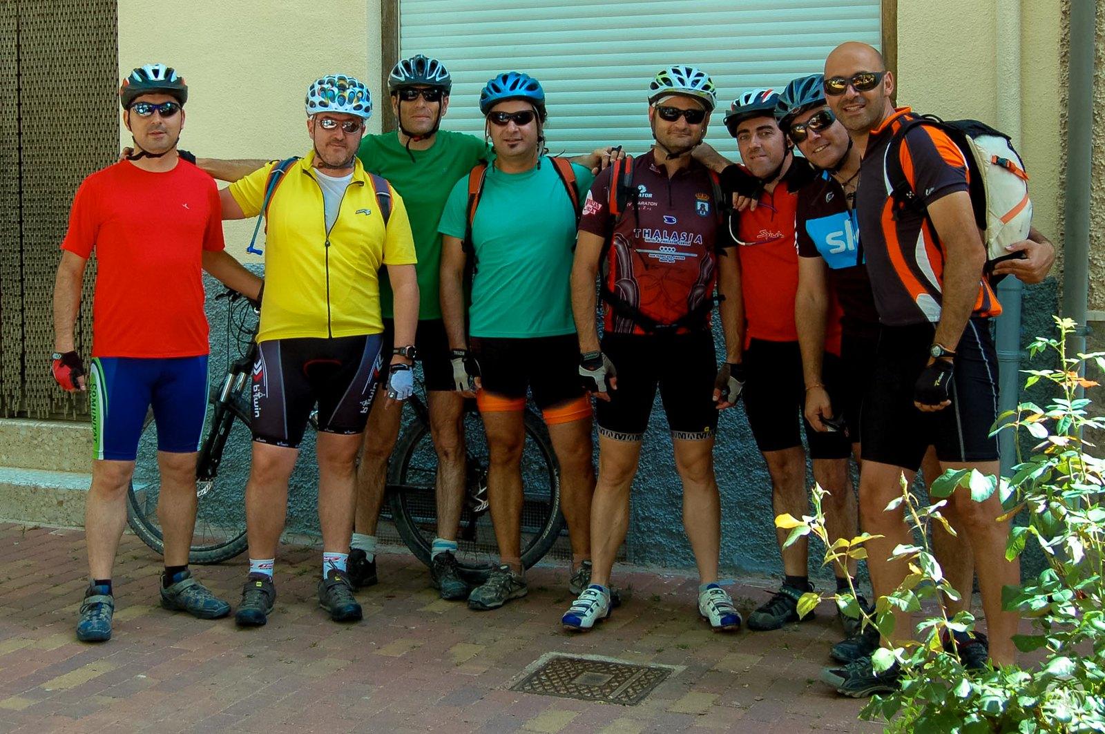 El equipo antes de salir