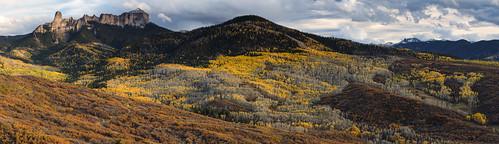 colorado fallfoliage fallcolors autumn panorama sunset ridgway countryroads