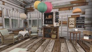 Serenity Style- Summer Camp Kitchen overview   by Hidden Gems in Second Life (Interior Designer)