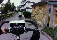 cycling through Coburg, June 2015