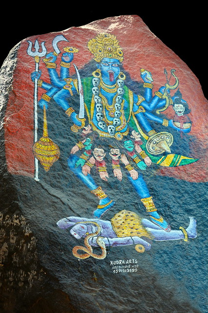India - Telangana - Hyderabad - Golconda Fort - Sri Mahankali Temple - Hindu Goddess Kali - 111b