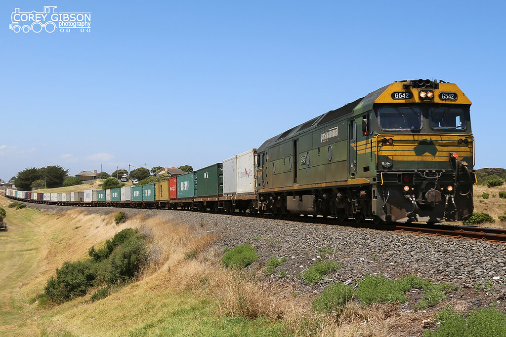 G542 with a late running Warrnambool Freight by Corey Gibson