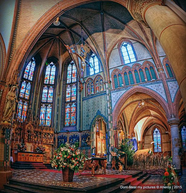 St.Jozefkathedraal,Interior,Altaar,Groningen stad,the Netherlands,Europe