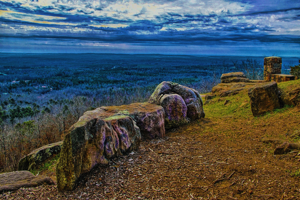View of Pine Mountain Valley from Dowdell's Knob at 1395 f ...