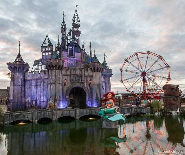 Dismaland - The fairytale castle and big wheel