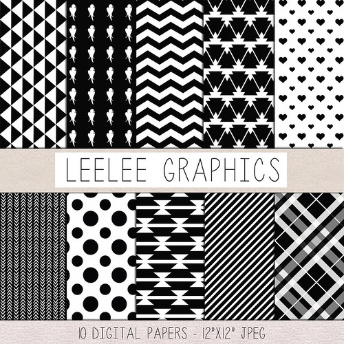 LeeLee Graphics - Black and White Texture Pack