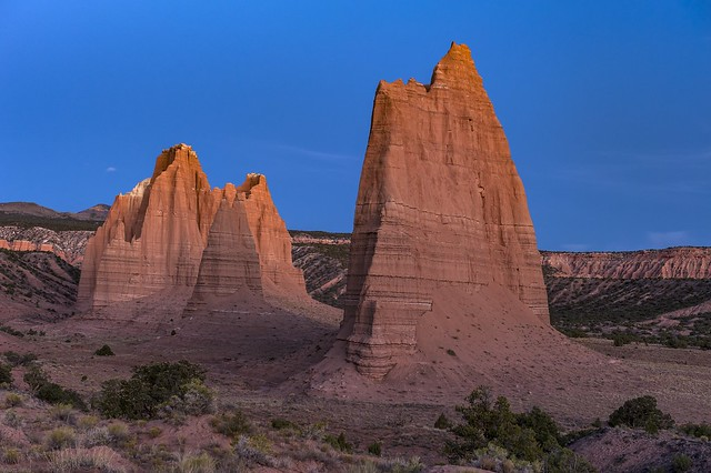 *The Monoliths of Upper Cathedral Valley @ blue hour*