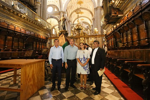 Puebla Cathedral: towers are the tallest in Mexico, 70 meters tall