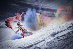 Marcel Hirscher performs during the project 'Marcel Hirscher Colours' at Reiteralm near Schladming, Austria on March 24th, 2015 // Markus Berger / Red Bull Content Pool // P-20150331-00157 // Usage for editorial use only // Please go to www.redbullcontentpool.com for further information. //