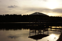 Fishing pier in the late afternoon,