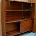 Teak two glass door cabinet