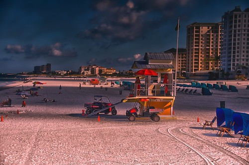 vacation beach sunrise sand florida sony clearwaterbeach hdr lifeguards dfx