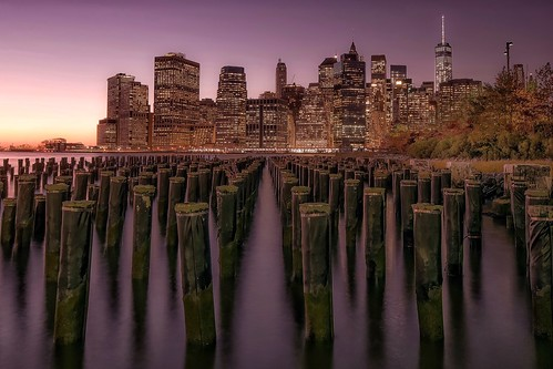 nyc longexposure travel sunset newyork river landscape photography cityscape view purple manhattan nikond5300