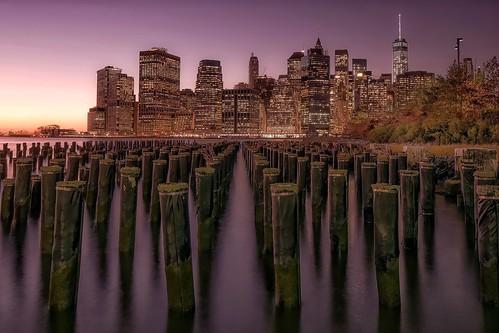 nyc longexposure travel sunset newyork river landscape photography cityscape view purple manhattan nikond5300