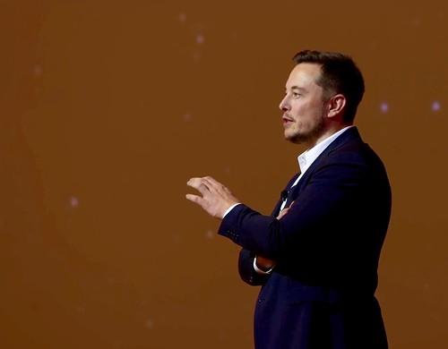 Elon unveiling the big SpaceX Mars ITS  (aka BFR) Rocket today | by jurvetson