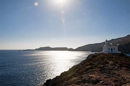greece faros lighthouse kythira andy andrew aga aliferis landscape seascape nikon 300s sun lightflair