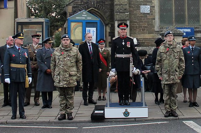 Remembrance Sunday 2016 Oakham Rutland Wreath Laying War Memorial All saints Church and Parade
