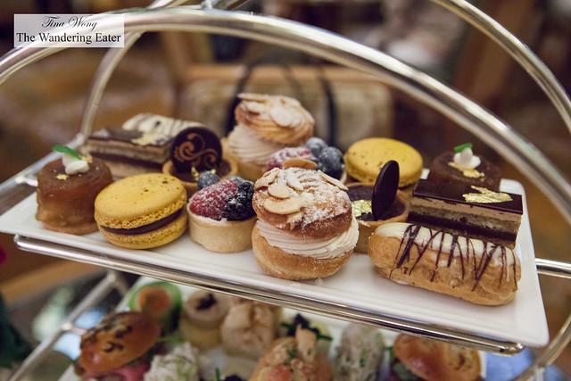 Top tier of sweets