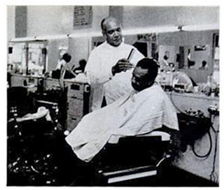 Gardner Bishop in his barbershop: 1974 | by Washington Area Spark