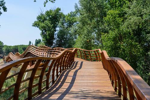 Sendero GR 14 cruzando el río Duratón | by gr14lasendadelduero