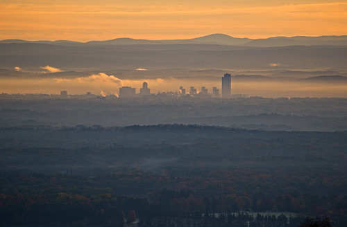 city morning autumn mist newyork fall sunrise albany overlook thacherpark