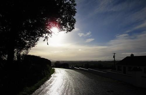 road ireland winter sky irish sun silhouette clouds landscape cork newmarket 2015onephotoeachday canonixus170