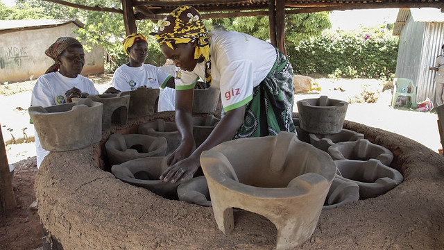 Women from the Keyo Pottery Women's Group Produce Cook Stoves