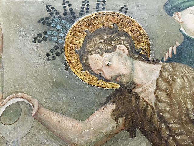 Salimbeni - Saint John baptizing the neophytes (or converts), detail