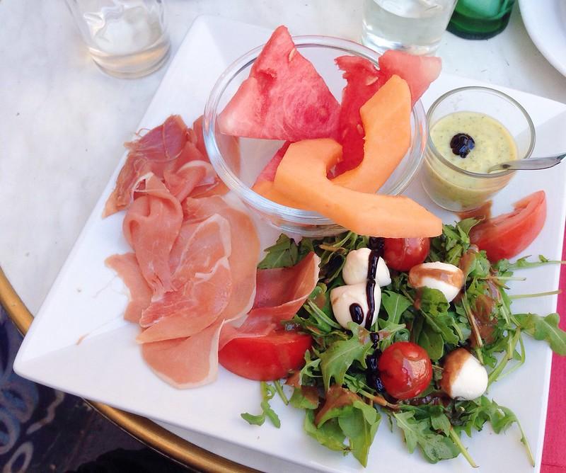 Nguyen, Dana; Paris, France - I'm In My Element, Fresh ham, salad and fruit from Porte de Clignancourt