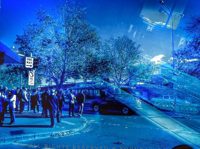 Street in the blue, Sydney ...