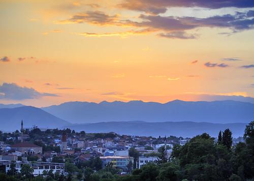sunset vacation holiday mountains night evening cityscape macedonia mk balkan skopje 2015 perpetualwinner