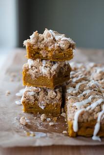 Pumpkin Sour Cream Crumb Bars   by Smells Like Home