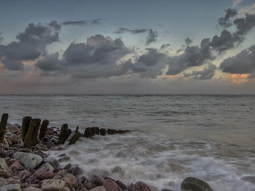 porlockweir porlock water sea seascape ocean pebbles groin clouds cloud outside outdoors beach landscape outdoor seaside shore sky coast coastal olympus om5 digital