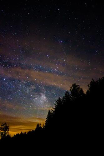 trees sky up wales night clouds dark stars star cabin woods view space cymru nighttime galaxy valley astronomy heavens cwm celestial llanidloes powys milkyway penfforddlas cwmbigafarm