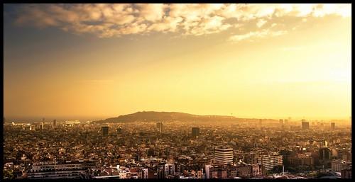 barcelona sunset fog guell parc montjuic d800 eltano86