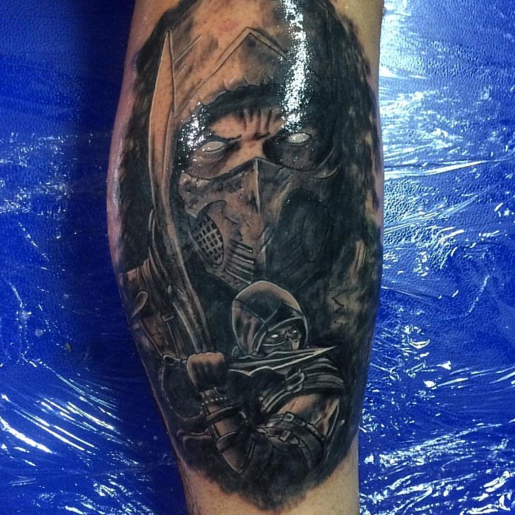 Mk Mortalkombat Scorpion Tattoo Portrait Tattoos Ta Flickr