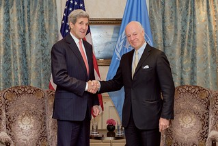 Secretary Kerry Meets With U.S. Special Envoy de Mistura Before Syria Discussions in Vienna