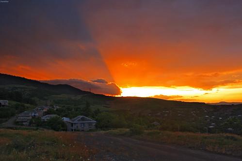 sunset village armenia закат armenien հայաստան армения ijevan tavush idzhevan idjevan տավուշ մայրամուտ sevkar тавуш sevqar իջեան иджеван севкар սեքար
