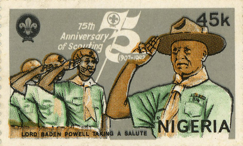 nigeria stamp 75th anniversary of scouting baden powell 1982 45k