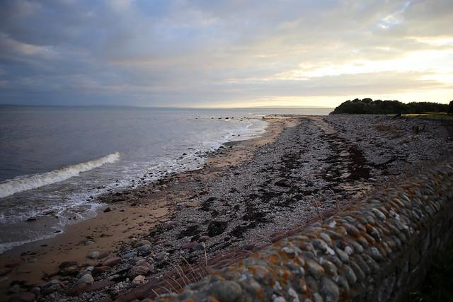 The beach at Dunrobin Castle