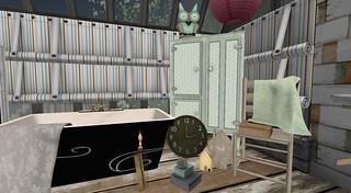Serenity Style- Summer Camp Bathroom   by Hidden Gems in Second Life (Interior Designer)
