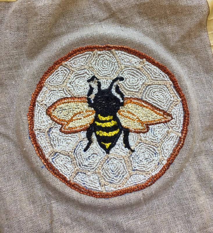 Needlepunch embroidery bee