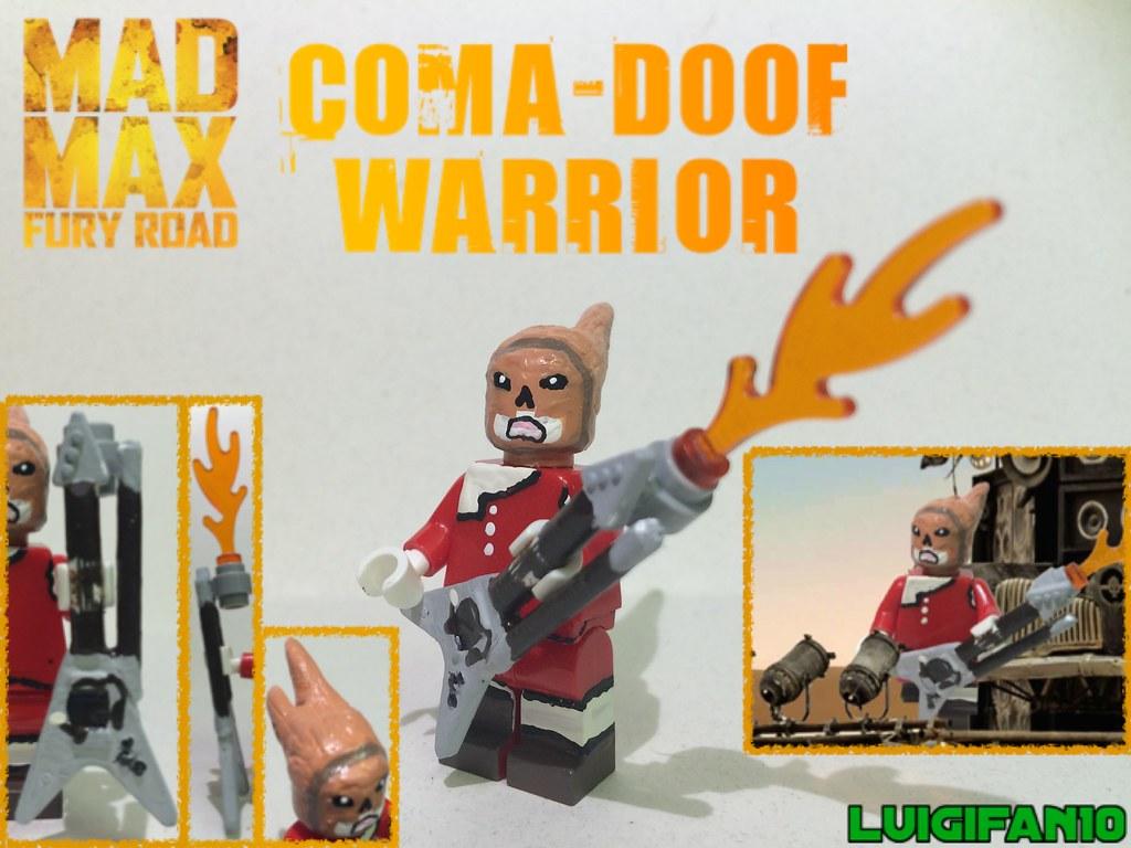 Custom Lego Coma Doof Warrior Aka The Guitar Guy From Mad Flickr