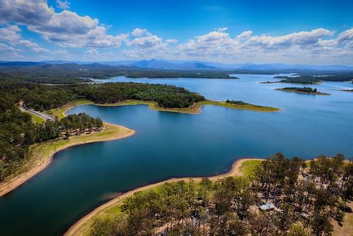 arial landscape lakes sky clouds water weather lakesamsonvale drone djiphantom4
