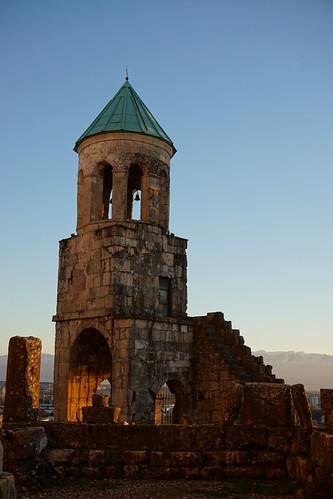 caucasus gruzja georgia sakartwelo kaukaz autumn imereti kutaisi bagrati cathedral sunset tower unseco