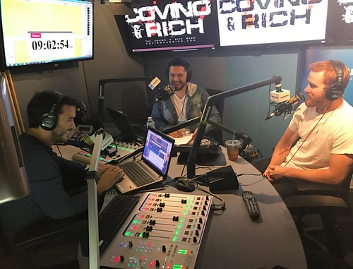 Comedian @cheetosantino is in the C&R studio. Not sure how he made it passed Rich's ginger detector but I guess we'll make the most of it #TheShow | by covinoandrich